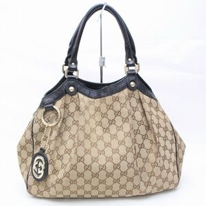 GUCCI Medium GG Canvas Sukey Tote